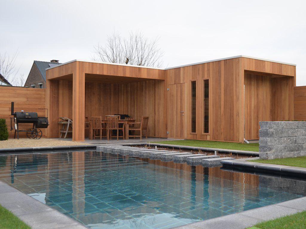 Modern bijgebouw poolhouse hardhout iroko amb 11 aspx 1 for Bijgebouw tuin