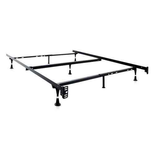 Structures Heavy Duty 8 Leg Adjustable Bed Frame With Center