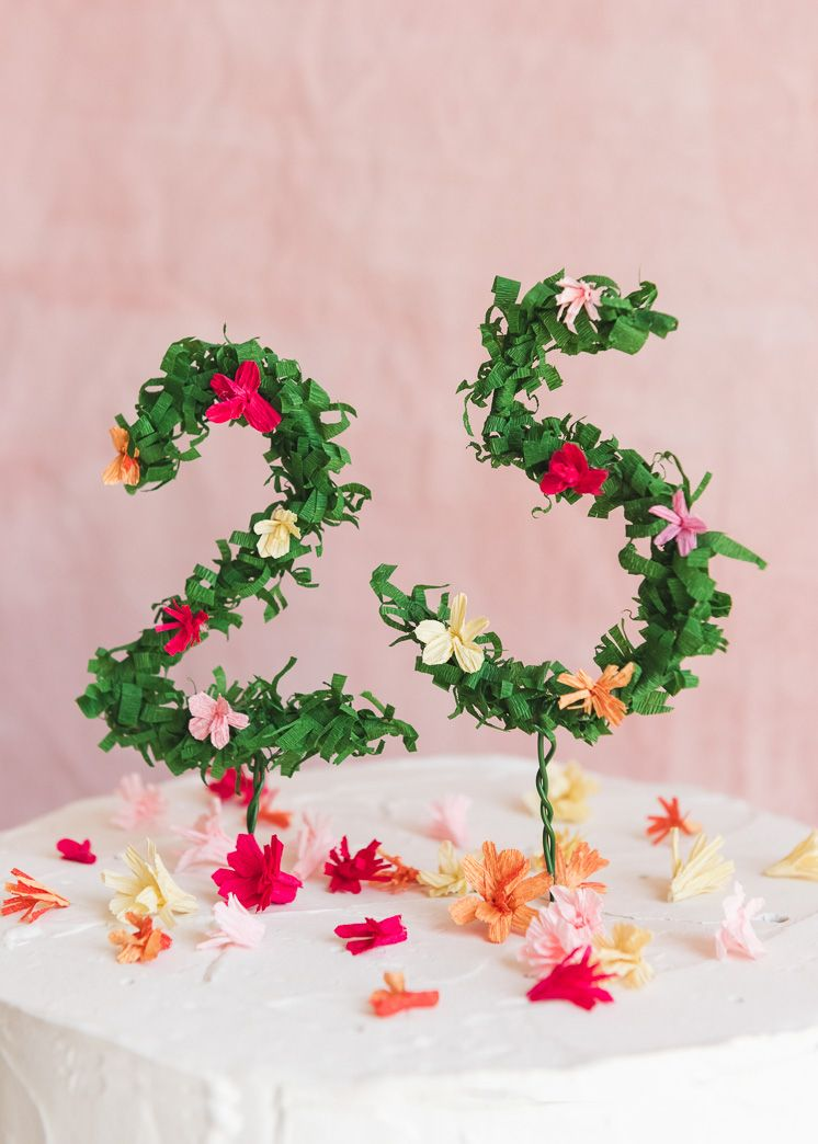 Stupendous Floral Numbers Birthday Cake Topper Birthday Cake Toppers Funny Birthday Cards Online Inifofree Goldxyz