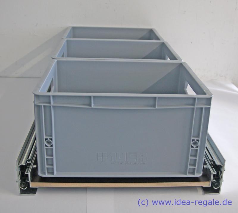 Photo of Auszug mit Bodenverankerung | IDEA-Regale
