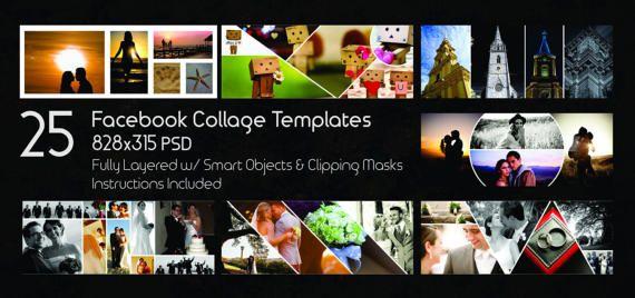 25 facebook timeline template facebook collage digital template