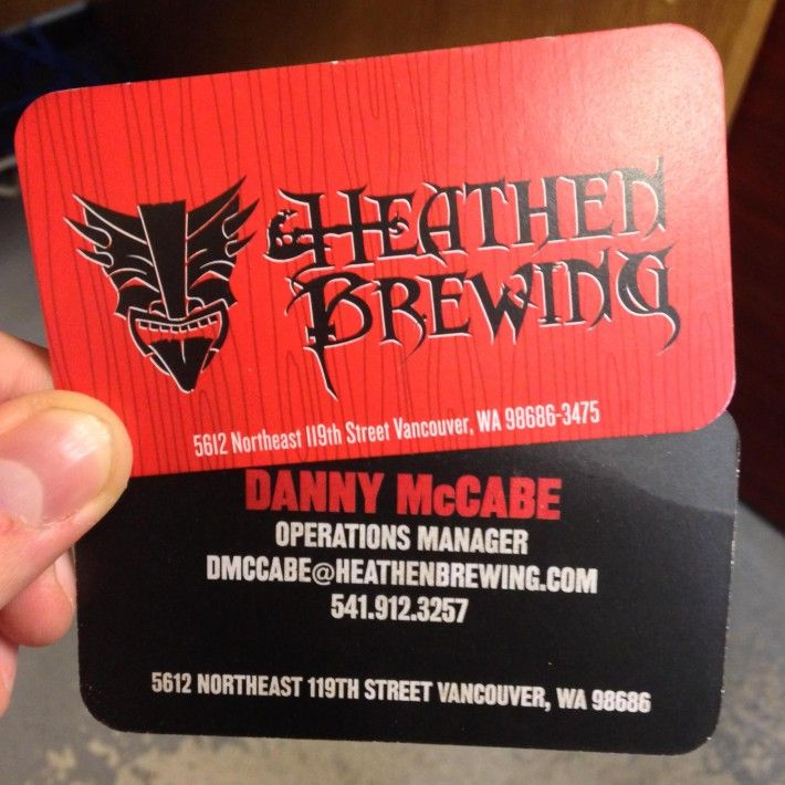 Heathen brewing business cards promotional products pinterest business cards for heathen brewing vancouver wa reheart Image collections