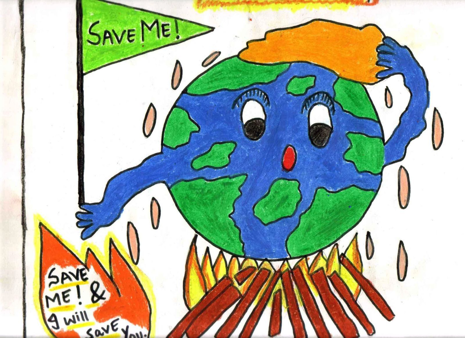 Drawing Poster On World Environment Day