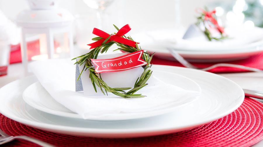 Tesco Christmas Place Cards Yule Decorations Christmas Decor Diy