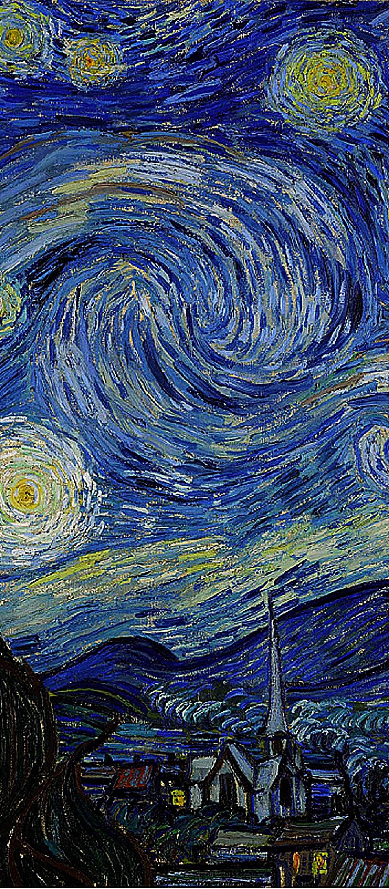 Vincent Van Gogh Starry Night Detail Center Van Gogh Wallpaper