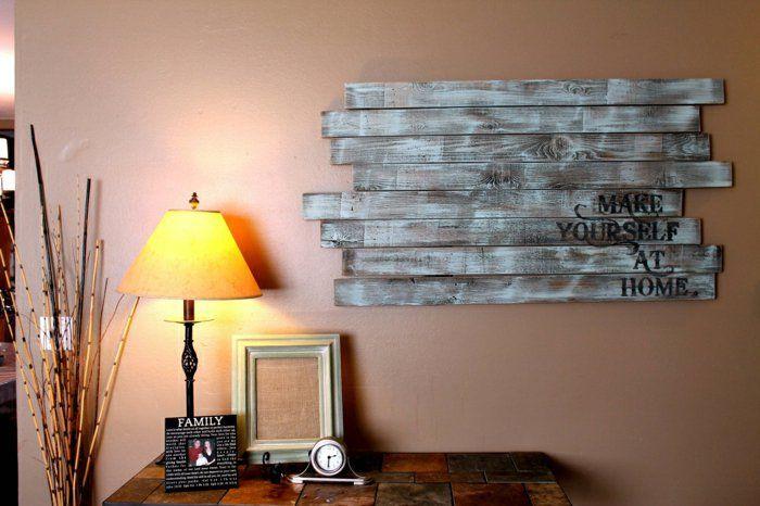 Wohnzimmer Ideen Holz ~ Verblüffende ideen für wanddeko aus holz wanddeko