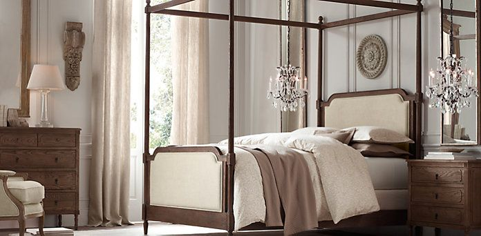 Vienne French Four Poster Bed Rh Bedroom Collections Restoration Hardware