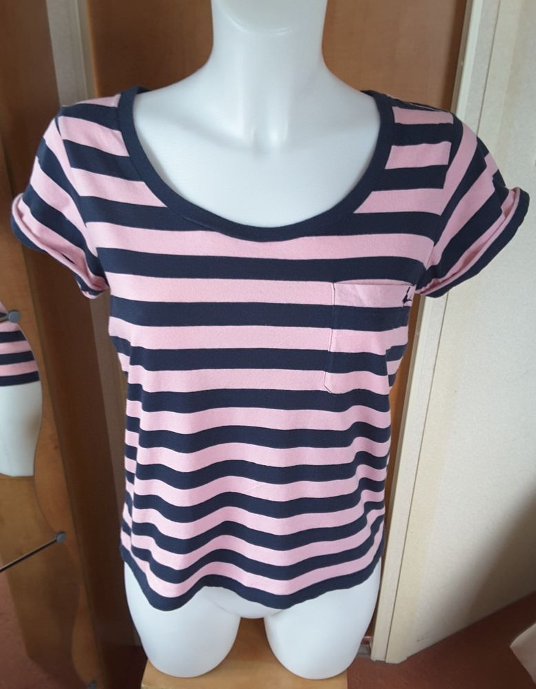 2f69d5517d Jack Wills Ladies Pink   Navy Stripe T-shirt - UK Size 8 US Size 4 Cute  Holiday  JackWills  TShirt  Casual