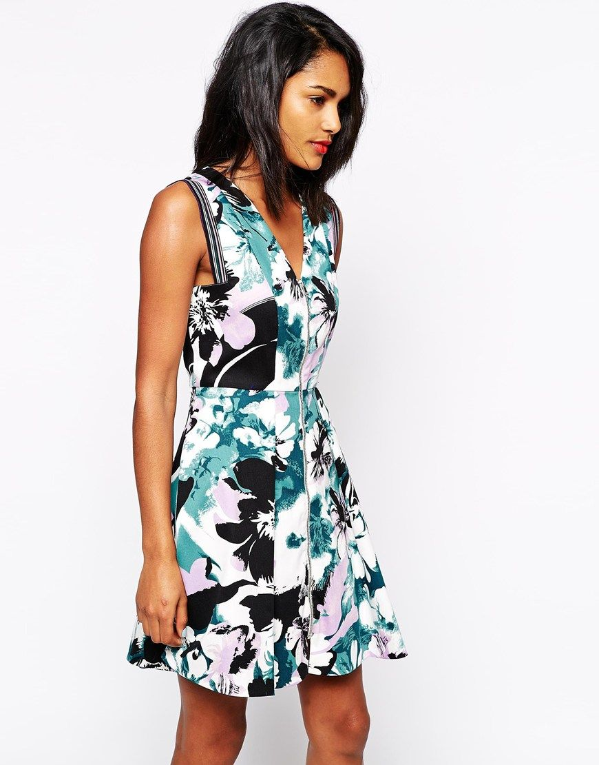 Sportmax Code Dress with Zip Front in Floral Print | Fashion | Pinterest