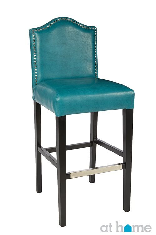 Stupendous Teal Bar Stool Not Sure About The Leather But Love The Caraccident5 Cool Chair Designs And Ideas Caraccident5Info