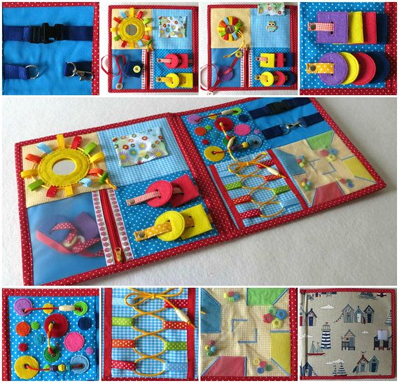 Toy Therapy Activity Sensory Travel Children Fabric Board Autistic OiuZPkX
