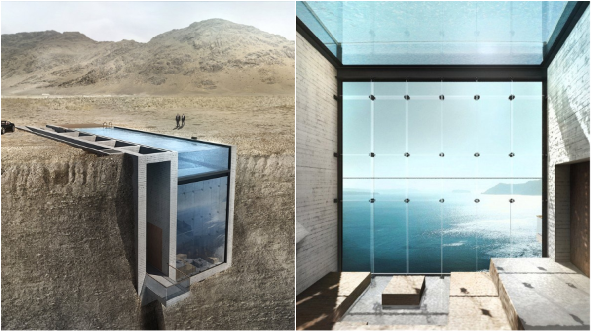 This Jaw Dropping House Is Built Right Into A Cliffside  # Muebles Rivelli