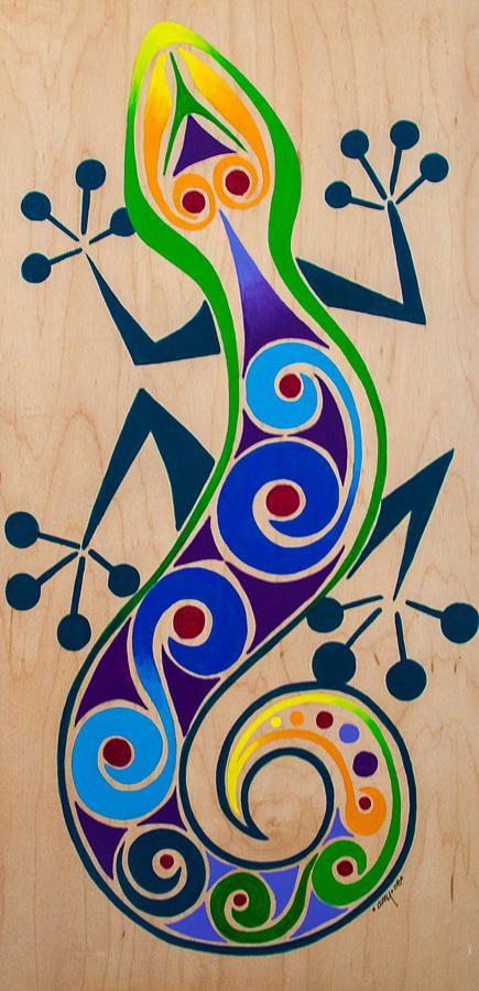 Gecko Painting Google Search Pinturas Pinturas Abstractas