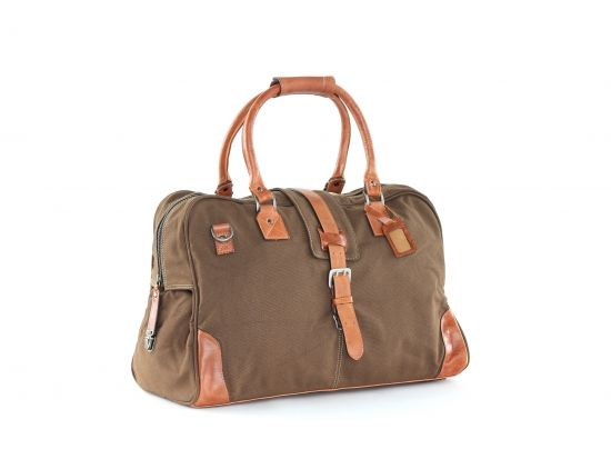 Royal RepubliQ Royal Canvas bag - Material Canvas 16oz , Leather (Daffodil) - Material color Camel - Article number 2050-2438