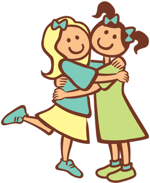 Two Friends Hugging Clipart 2 Girls Hugging As Best Friends Sister Clipart Friends Hugging Birthday Wishes For Friend