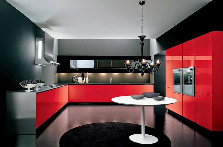 Luxury Italian Kitchen Designs Ideas 2015 Sets Red And Black Kitchens