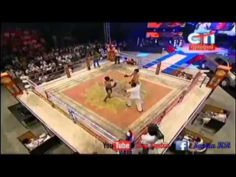 Khmer Boxing - Yen  Dina VS Thai [KO] - CTN Boxing