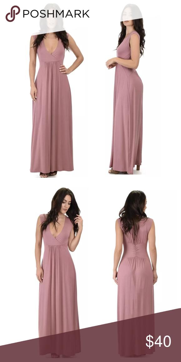 e11a0dc0bf7 Mauve Plunge Maxi Dress Lyss Loo Womens Dress Sweetest Kiss Plunge Stretch  Sleeveless Mauve Maxi Brand