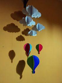 Móvil en papel 3D de Tutorial de Artesania