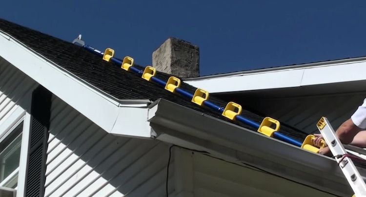 Goat Steep Assist Ladder Helps You Climb Steep Roof Tops Roof Ladder Rooftop Roof Work