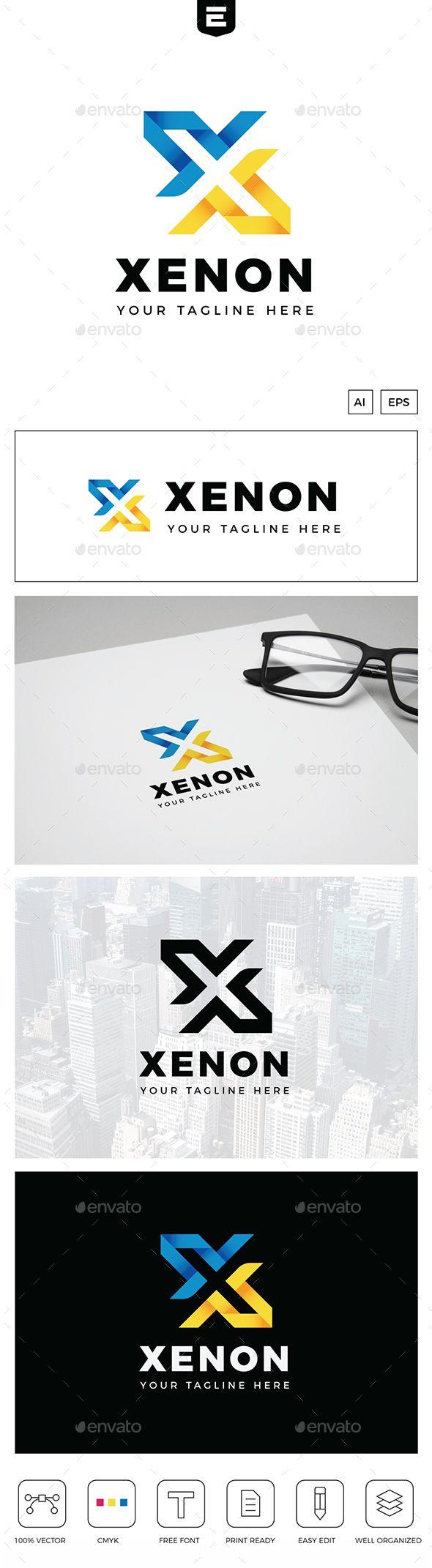 Xenon letter  logo template vector eps ai illustrator download pinterest templates logos and design also rh