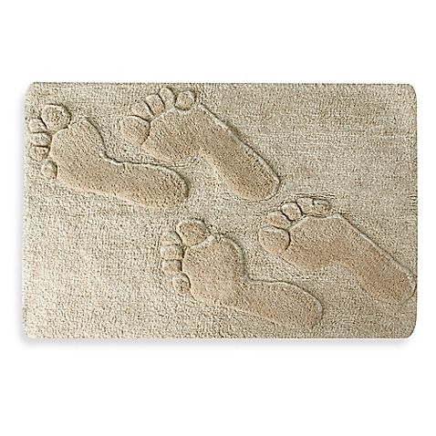 the beachtime bath rug brings a fun friendly touch of seashore rh pinterest com Beach Rugs Coastal Themed Area Rugs