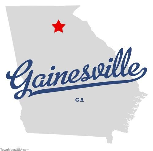 Gainesville Ga Map Map of Gainesville Georgia GA, the place that will always be Home  Gainesville Ga Map