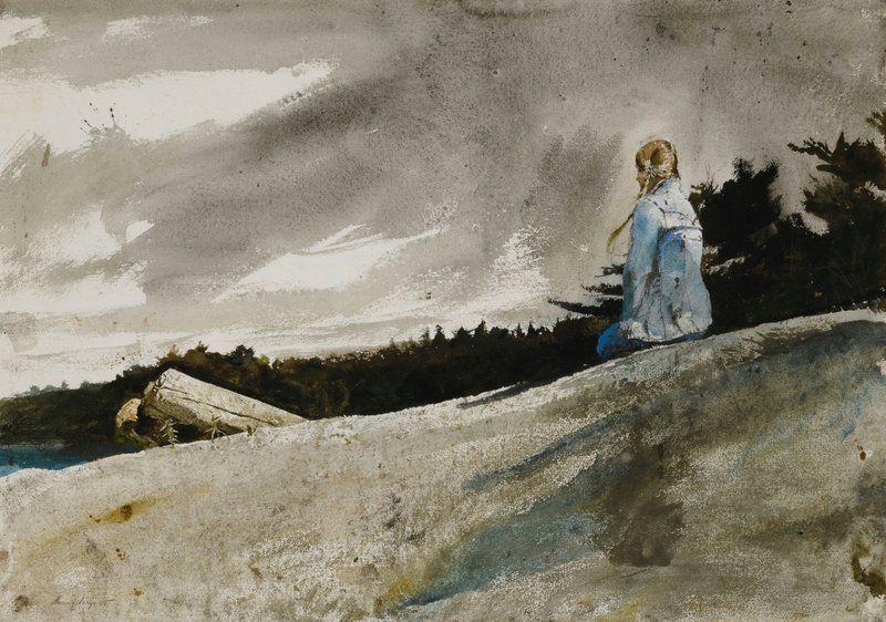 Картинки по запросу Andrew Wyeth (1917 - 2009) Knapsack ...
