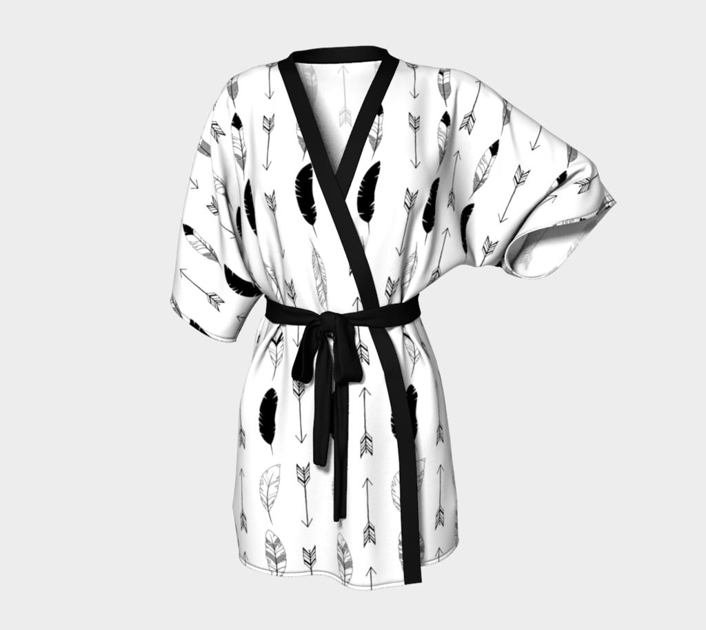 White Feathers and Arrows Kimono