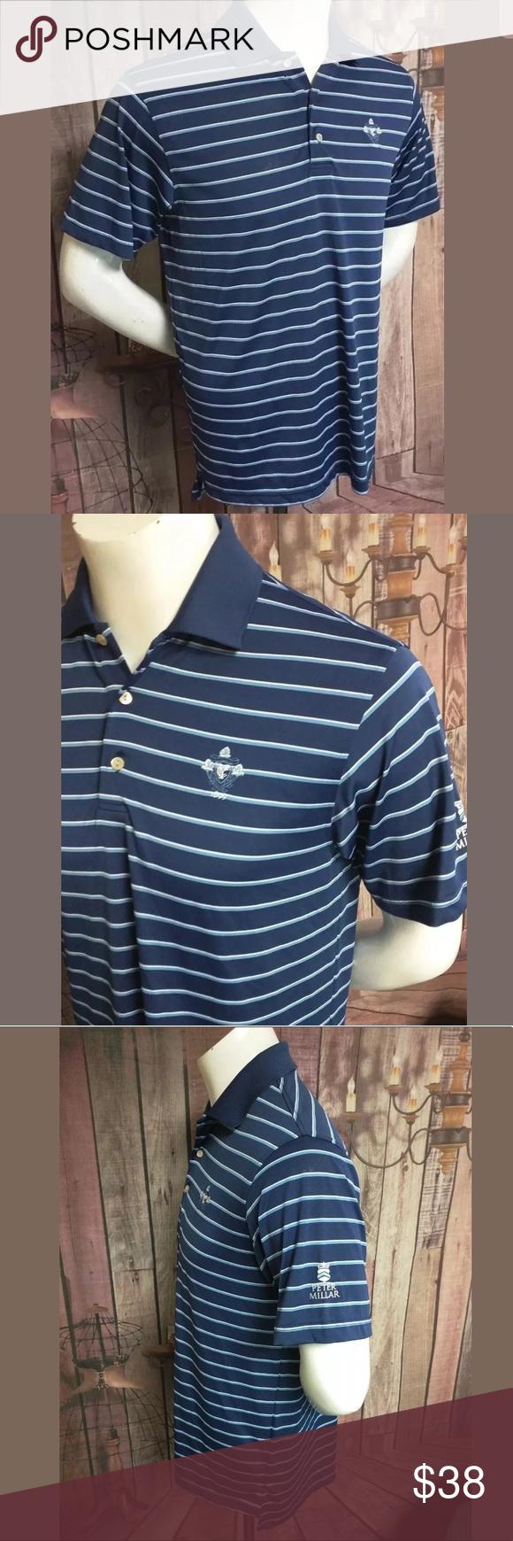 PETER MILLAR Summer Comfort Golf Polo Shirt Logo Mens