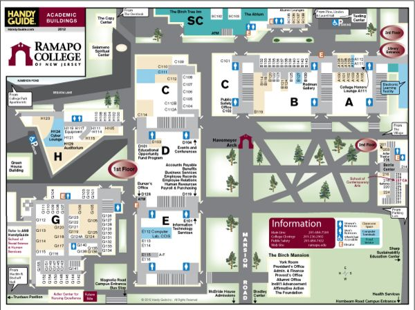 College Of New Jersey Campus Map.Ramapo College Of New Jersey Campus Overview Guide College