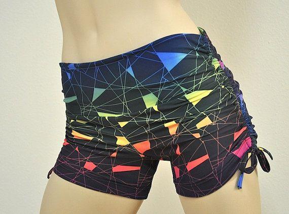 Hot Yoga Fitness Shorts Electric Rainbow Item #7401 #Electric #Fitness #Hot #rainbow #Sale #Shorts #...