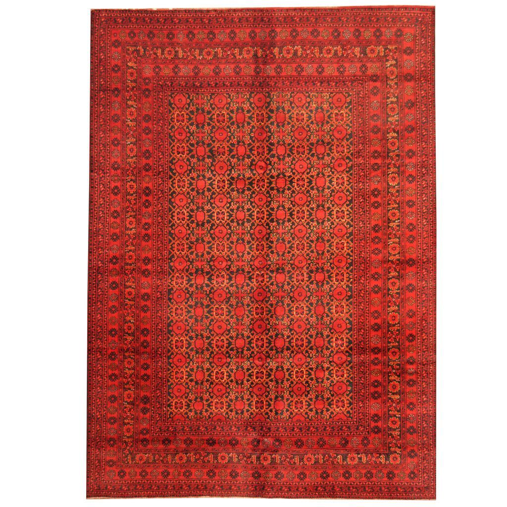 Herat Oriental Afghan Hand-knotted 1960s Semi-antique Tribal Balouchi Rug