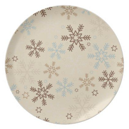 Holiday Plastic Plate-Snowflakes Plate  sc 1 st  Pinterest & Holiday Plastic Plate-Snowflakes Plate | Plastic plates