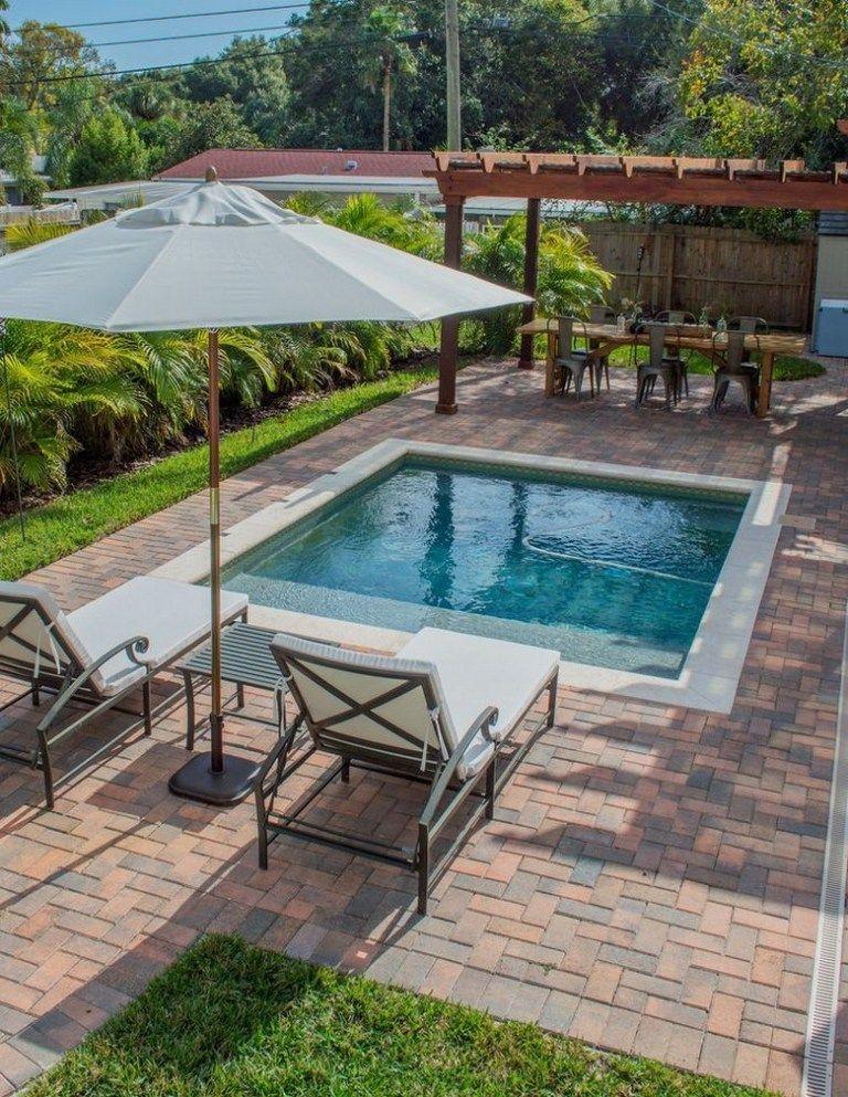 70 Cozy Swimming Pool Backyard Design Ideas On A Budget 11 In 2020 Swimming Pools Backyard Small Backyard Pools Small Pool Design