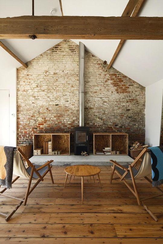 Loft Apartment Industrial Exposed Brick Living Rooms
