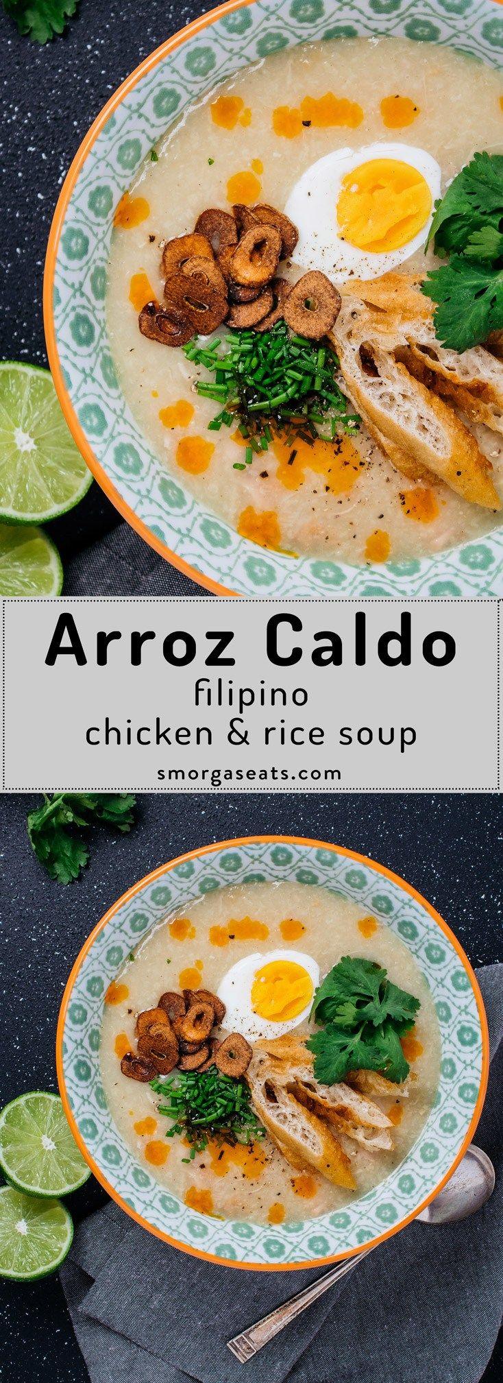 Arroz Caldo (Filipino Chicken & Rice Soup)