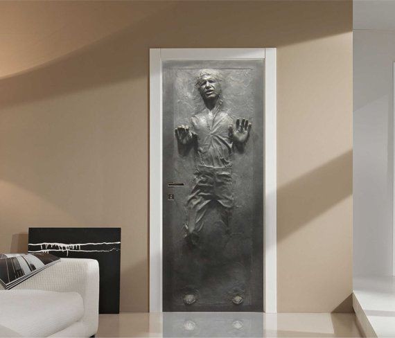 Han Solo In Carbonite Fathead Style Life Size Wall Graphic This Wall Door Graphic Is A Must Have For Any S Star Wars Bedroom Star Wars Bathroom Star Wars Room