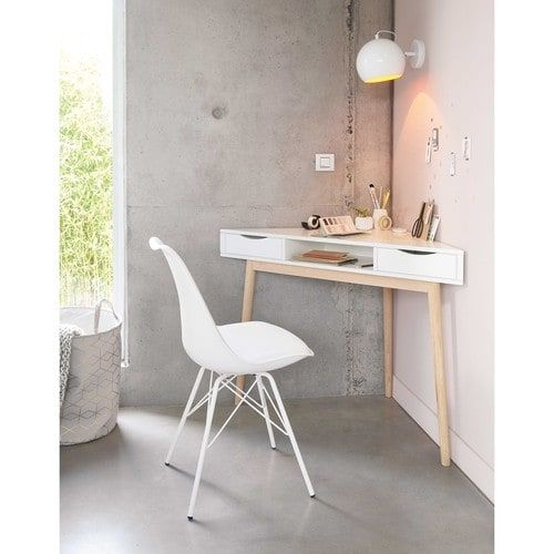 bureau d 39 angle vintage blanc pinterest angles bureau et maison du monde. Black Bedroom Furniture Sets. Home Design Ideas