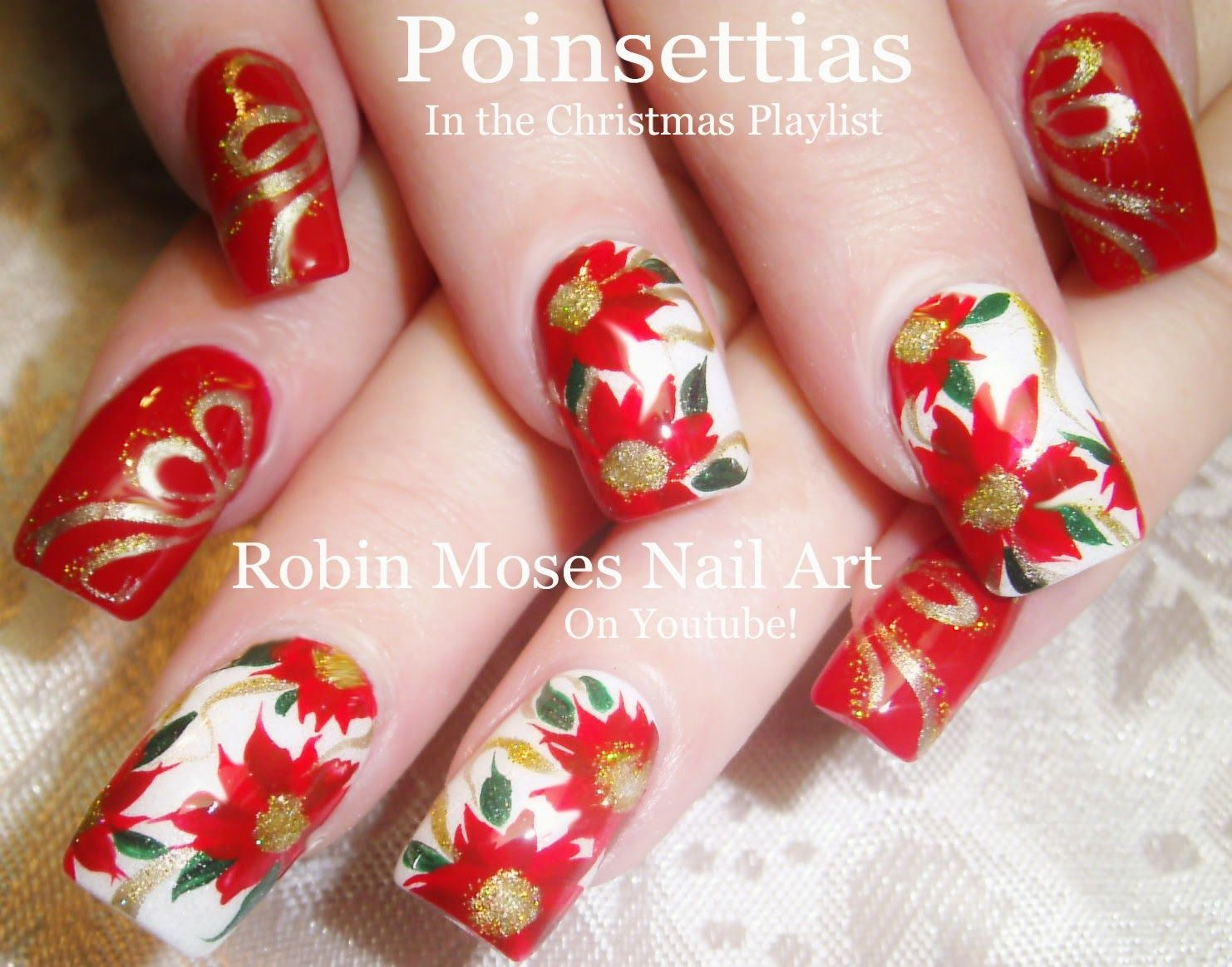 Pink christmas nails google search nail design favorites nail art tutorials for easy nail art design to advanced nail art for any instructor or shop owner here is a lovely christmas poinsettia nail art design tu prinsesfo Image collections