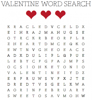 Kids Will Love Looking For Some Of Their Favorite Words In This V Day Word Search Valentine Coloring Pages Valentines Printables Valentines Printables Free