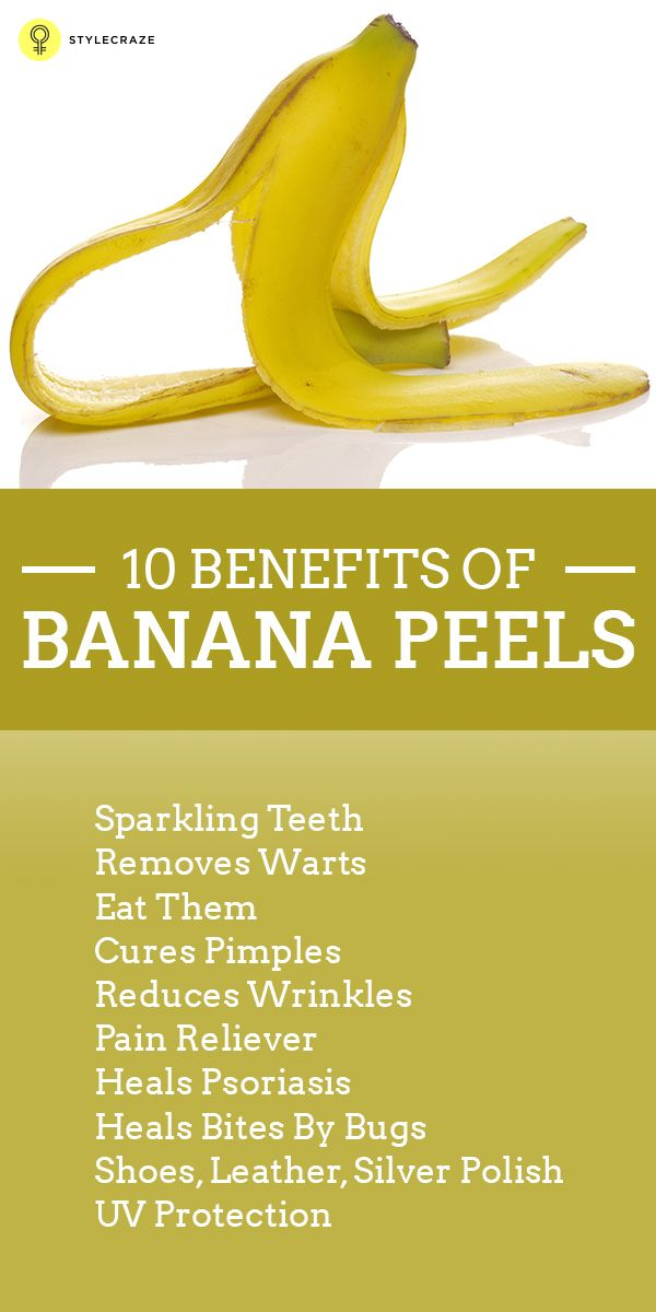 Benefits Of Banana Peels. Sounds weird right? But actually it's not! Before  throwing the banana peel into the bin, read this post to know its .