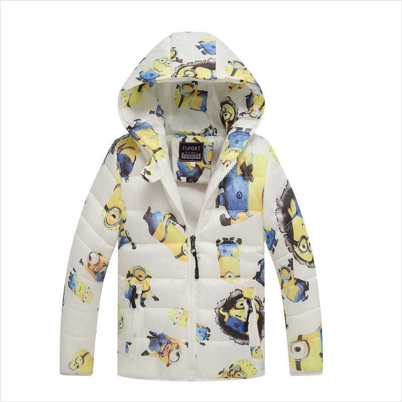 182ab021f29e Kids White Minion Down Winter Jacket - Warm