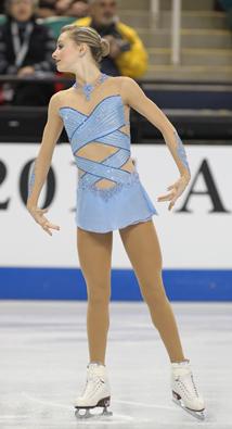 Ashley Cain, Blue Figure Skating / Ice Skating dress inspiration for Sk8 Gr8 Designs.