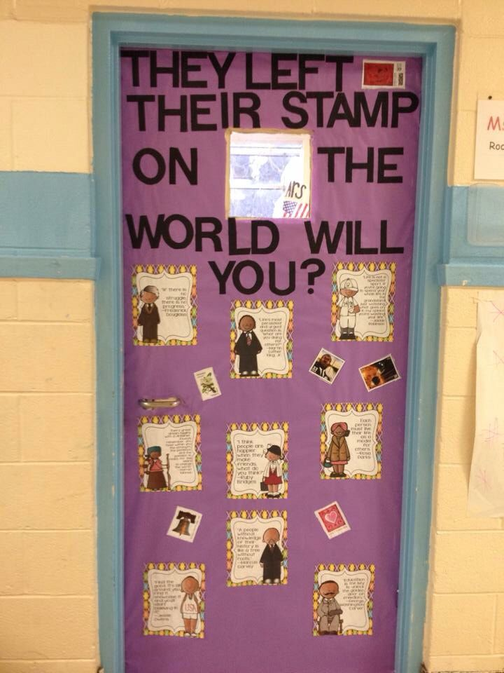History Classroom Decoration Ideas ~ Black history month classroom door bulletin