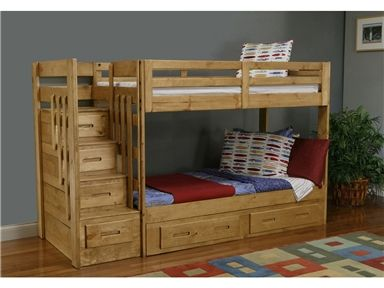 Shop For Oak Furniture West Stair Bunk Bed Sb 1375 And Other Bedroom Beds At Russell S Fine Furniture In S Wooden Bunk Beds Bunk Bed Plans Staircase Bunk Bed