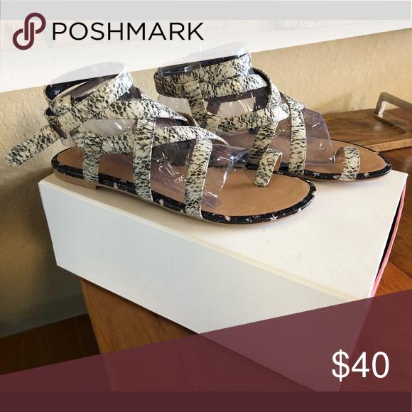 Athena Snakeskin Sandals