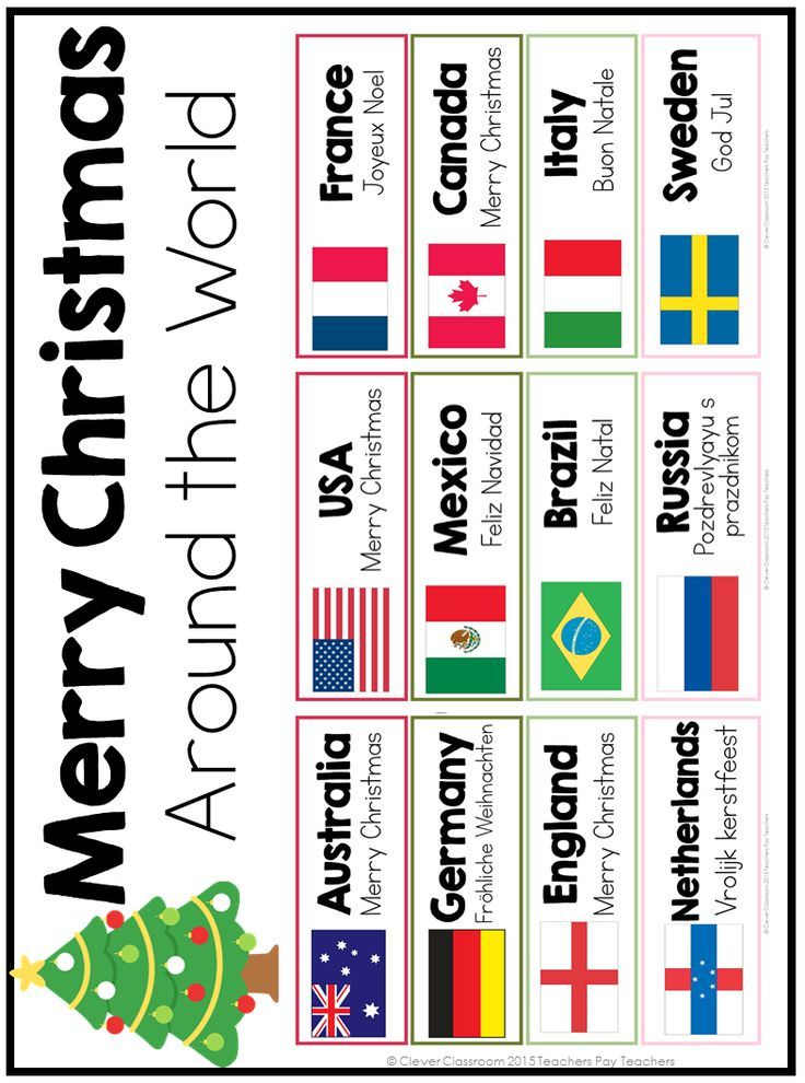 Merry Christmas Around the World Cards Holidays around