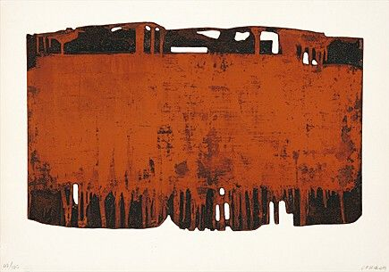 """Pierre Soulages - Abstract Art - Informal Painting - """"Eau-forte XXV"""""""