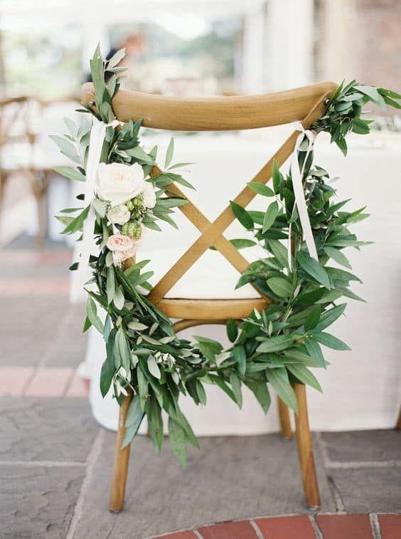 decorazione sedia matrimonio